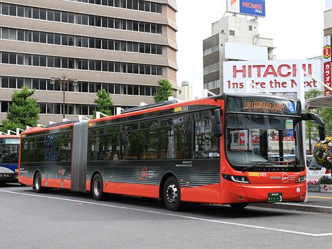 新潟交通 萬代橋線BRT 連接バス ・・・3 新潟駅前にて
