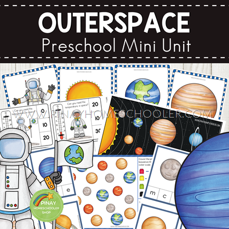 Outerspace and Solar System Preschool Mini Unit Learning Pack
