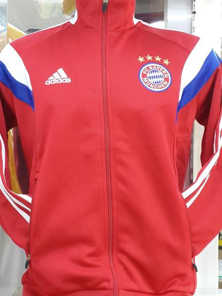 Jual Jaket Bayern Munchen Merah List Putih 2014-2015 Terbaru