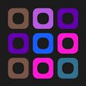 Puzzle box. Blocks icon