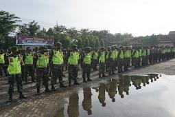 Apel Gabungan Operasi Yustisi Gakplin Prokes Tni - Polri DI Gelar Serentak Di Wilayah Pasuraun