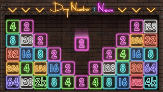 Drop Number Neon 2048 MOD APK v0.1 (Unlimited Coins)
