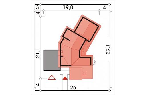 Bursztyn wersja B z podwójnym garażem - Sytuacja