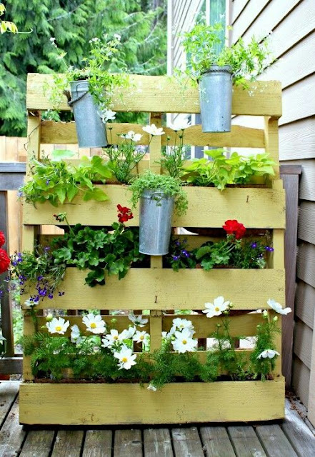 landscaping ideas with pallets