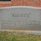 Kelly Leroy Gleaves Son of John Thomas Gleaves New Hope Cemetery- Hermitage, Tennessee Demmie (Opry Lane) Gleaves Wife of Kelly L. Gleaves