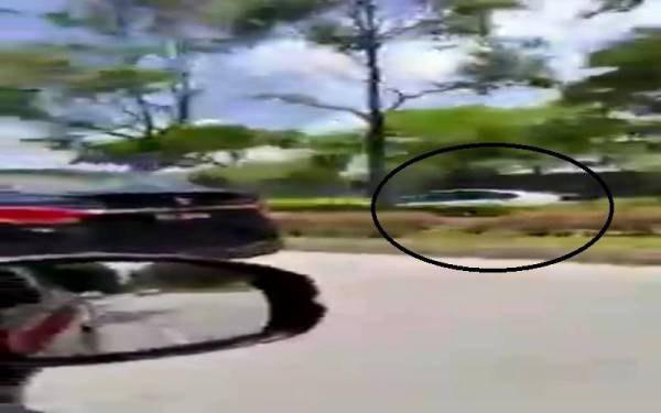 Warga emas pandu kereta lawan arus ditahan