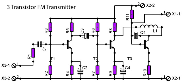 fm radio transmitter schematic with pcb