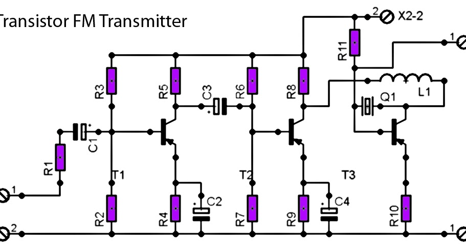 Fm Radio Transmitter on Fm Radio Receiver Circuit Diagram