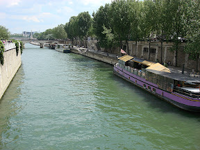 This was a little cafe on a boat on the Seine.