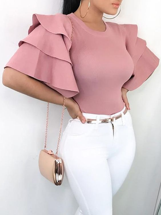 THE BEST RUFFLE BLOUSE DESIGNS FOR SOUTH AFRICAN WOMEN 5