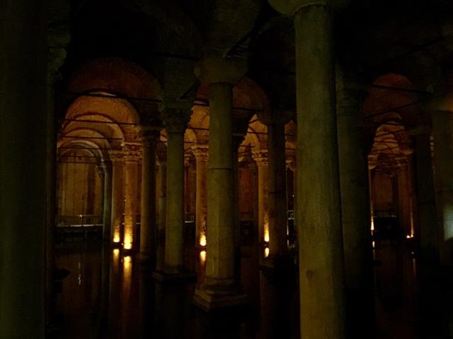 Basilica Cistern a Roman undderground water reservoir Istanbul