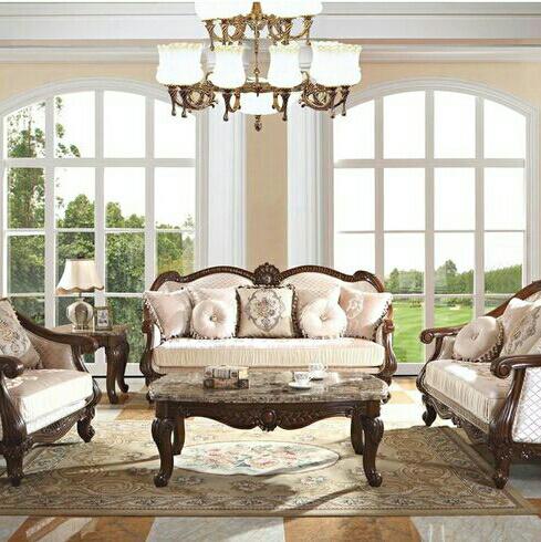 Set Kursi Sofa Ruang Tamu Classic White