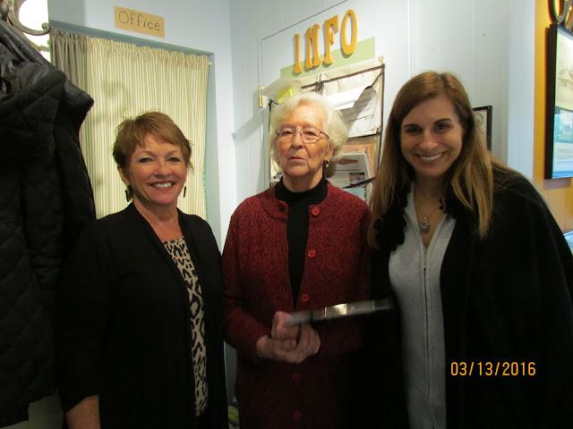 Sue Williams, Nancy Salo, West Bloomfield Supervisor Michele Ureste.