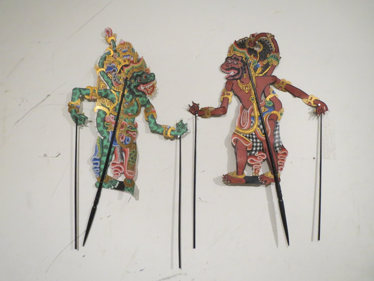 Indonesian Shadow Puppet Pair