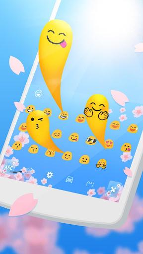 Spring Sakura Cheetah Keyboard 1.1.1 screenshots 2