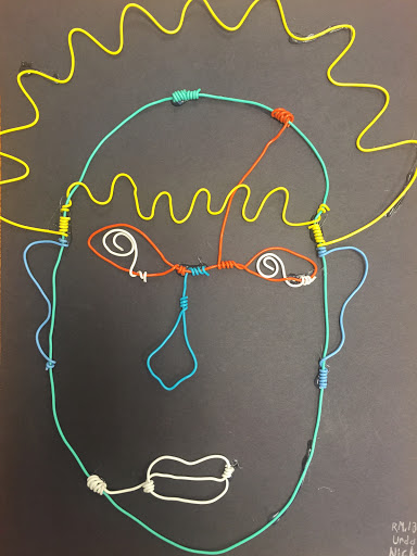 Mrs Nicholass Art Blog Alexander Calder 2D Wire Portraits