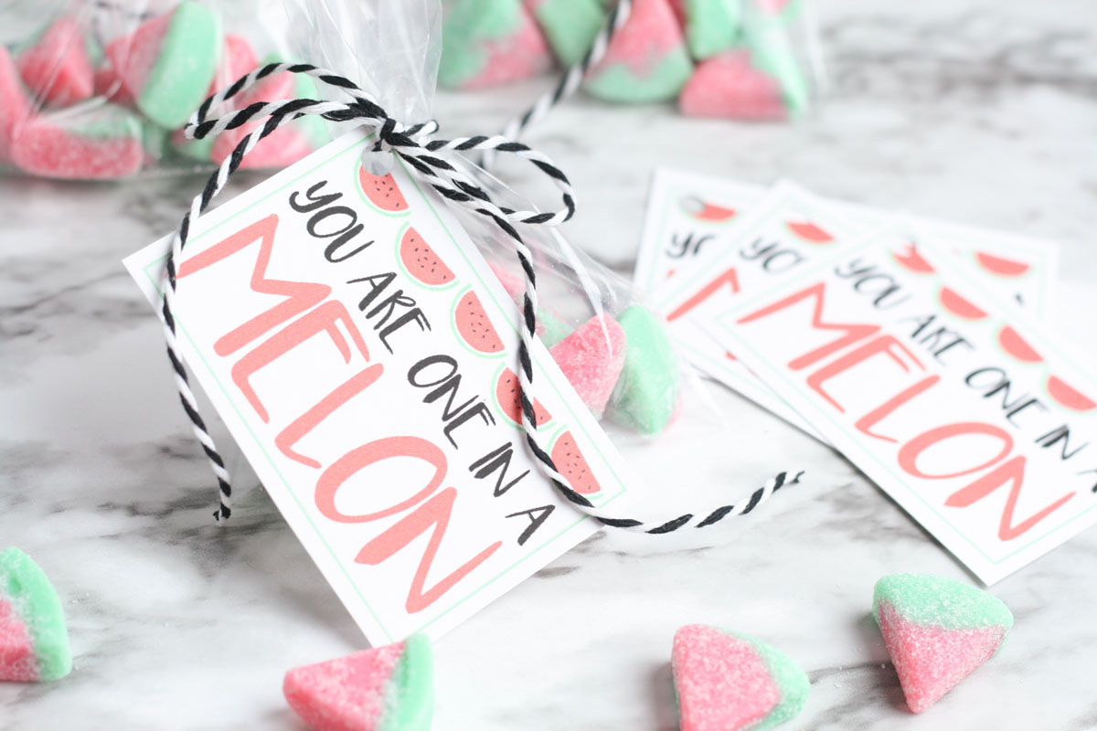 Valentine with watermelon candy