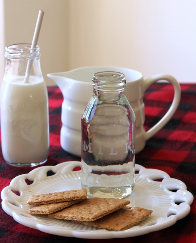 Etched Glass Milk Bottle (3)