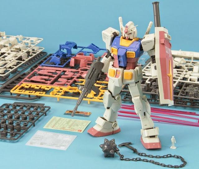 Sản phẩm lắp ghép RX-78-2 Gundam MG 1/100 được sản xuất tại Nhật Bản
