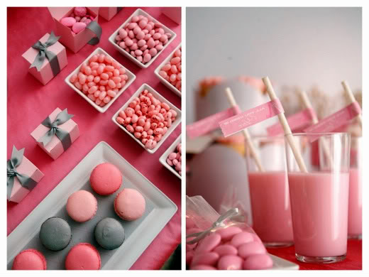scrapbook bright pink party inspiration