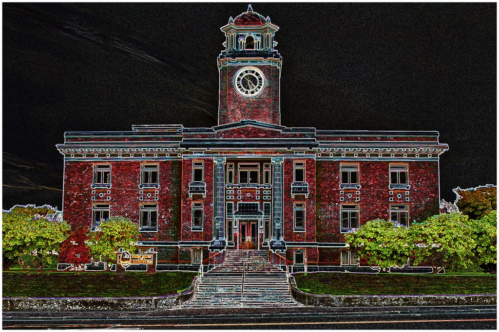 """""""Nighttime at the Courthouse"""" by Steve Bailey -- 2nd place A General"""