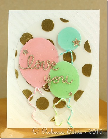 paper sweeties 3 balloon love you