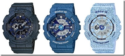 Casio Baby-G Denim' D Color Series BA-110 01
