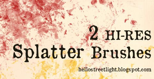 Free Hi-Res Splatter Brushes