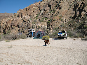 Our camp at RockHouse Canyon