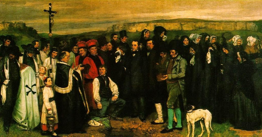 A Burial at Ornans by Gustave Courbet (1850)