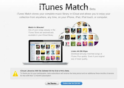 iTunes Match disponible para desarrolladores, permite streaming de música