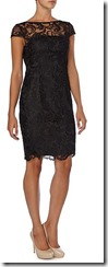 Adriana Papell black Guipure lace dress