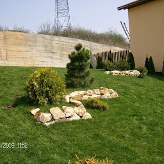 Grădină în pantă