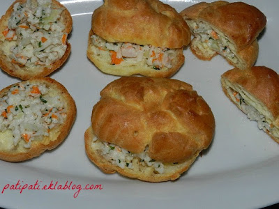 Petits choux au crabe citronné
