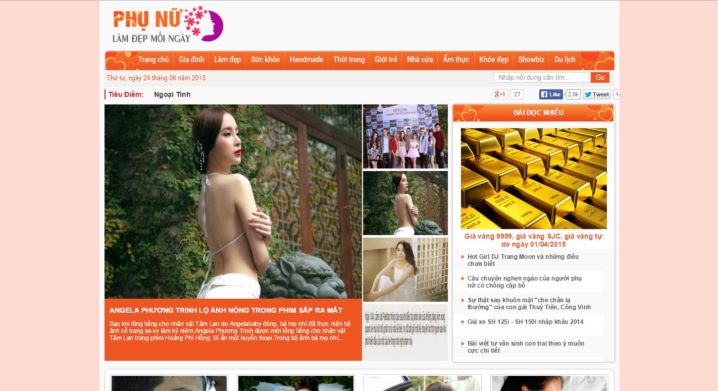 Dự án thiết kế Web về lĩnh vực phụ nữ đẹp