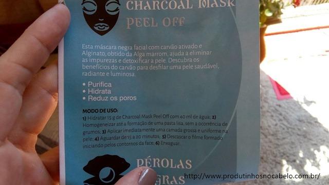 modo de usar embalagem Charcoal Mask