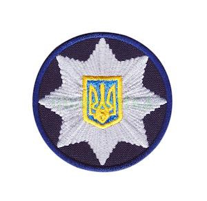 Кокарда Поліція синя