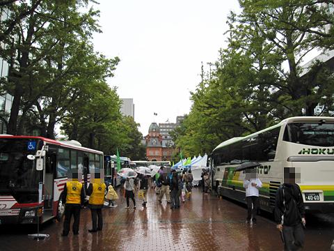 北海道バスフェスティバル2015 会場の様子 その1