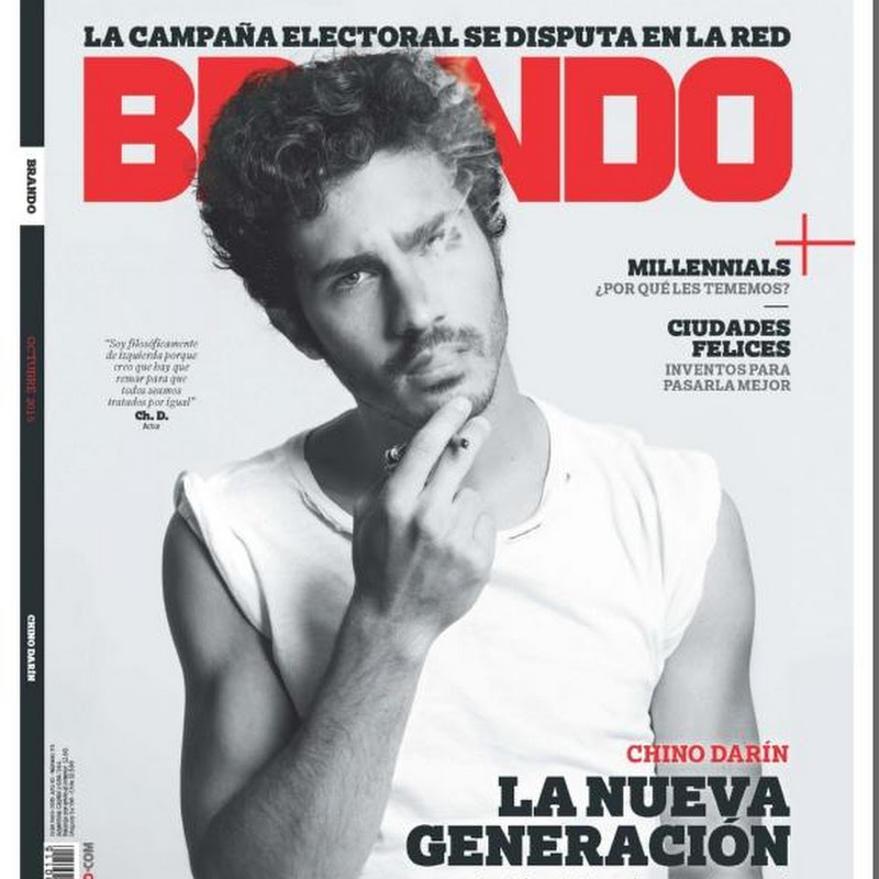 Chino darin en revista brando octubre 2015 tapa y for Revistas del espectaculo