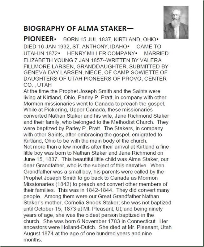 Staker, Alma 1