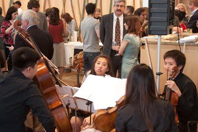 Cadence String Quartet: Alex Chang, Jeniffer Kim, Jessicca Lee (back), Jaunj Huncho
