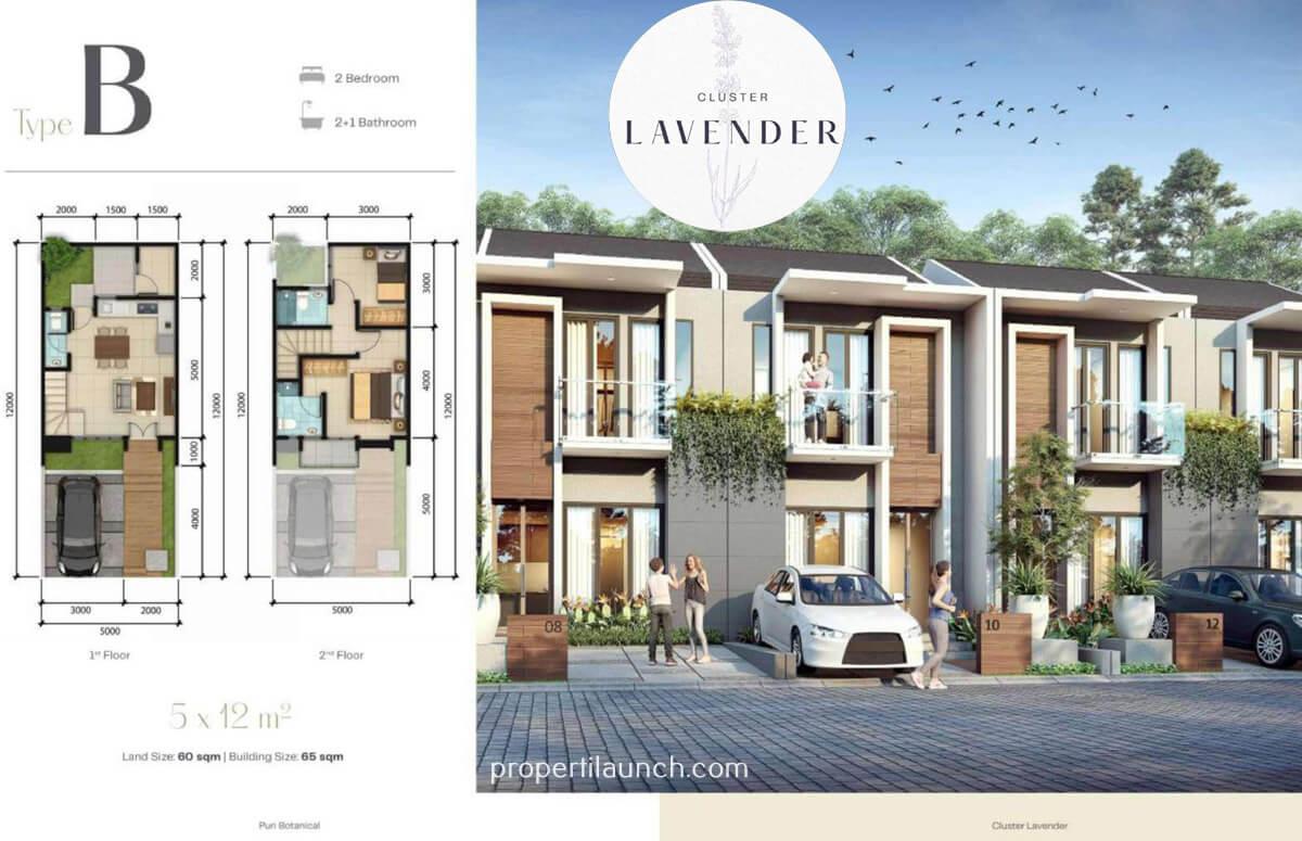 Rumah Lavender Puri Botanical Tipe B