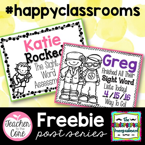 Get those sight word lists done