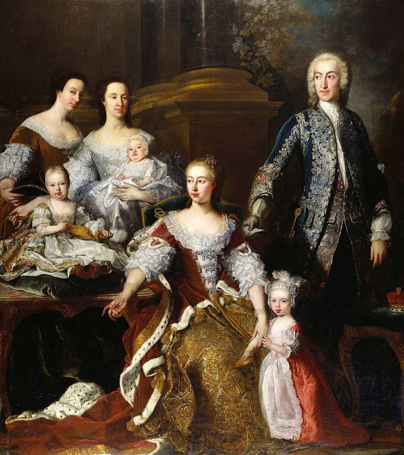 Jean-Baptiste van Loo - Augusta of Saxe-Gotha, Princess of Wales, with members of her family and household