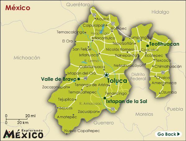 el mapa del estado mexico