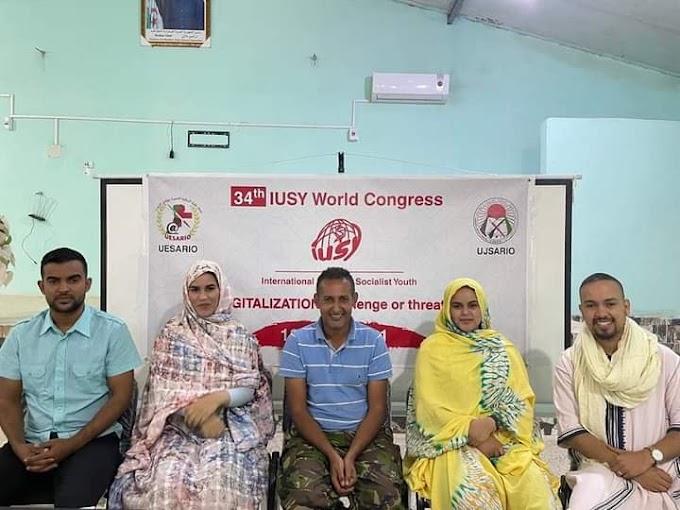 Éxito rotundo de la juventud saharaui en el foro mundial de la IUSY.