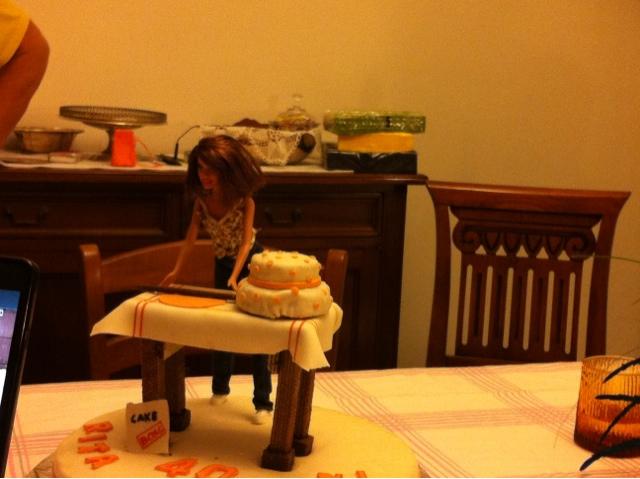 Cake sisters torta barbie for Decorazione torte ginnastica ritmica
