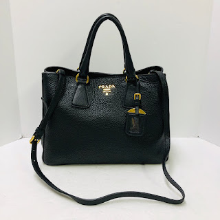 Prada Pebbled Leather Vitello Daino Tote