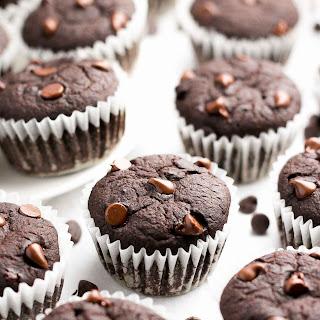 Healthy Mocha Chocolate Chip Mini Muffins.