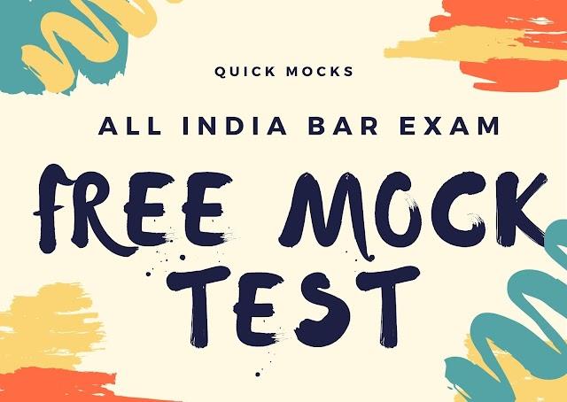 Free Mock Test | AIBE XV